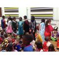 We showed our costumes to EYFS and Key Stage 1