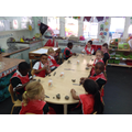 We enjoyed making minibeasts with Mrs Rafter!