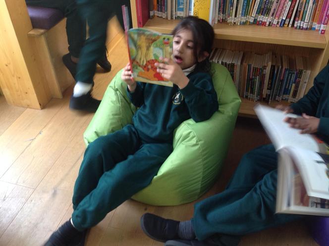 "Sitting comfortably, so I""lol begin to read."
