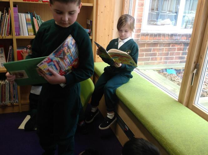 As we waited we started to read.
