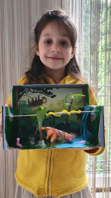 Ela's rainforest  diorama
