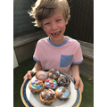 Charlie in Tadpole Class' cupcakes