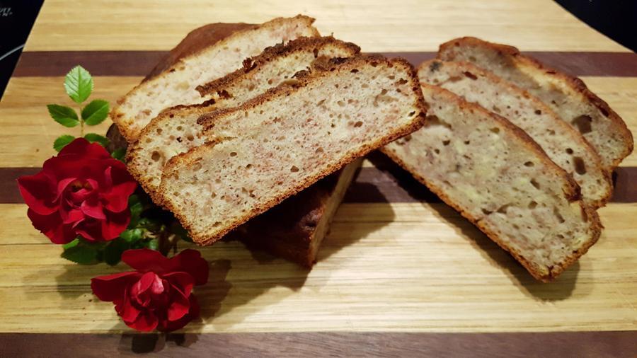 Mr Gerber's artfully arranged banana bread