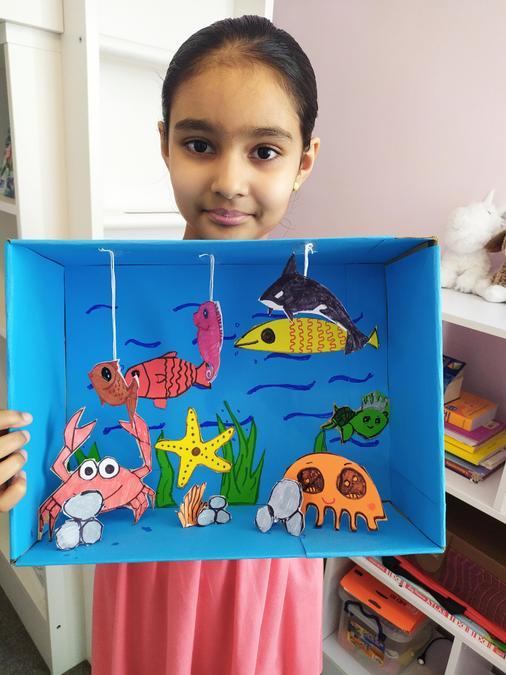 Avyaya's Under The Sea habitat