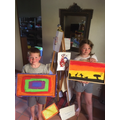 Lorna created this painting with her brother