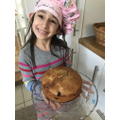 Azra and her brilliant blueberry cake