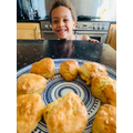 Sacha in Tadpole class and his home made scones