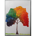 Ela's acrylic rainbow tree