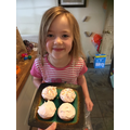 Emma from Tadpole class made cupcakes!