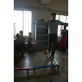 Mr Slade showing the kids how balancing is done!