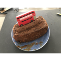 Ela's creatively themed bus cake
