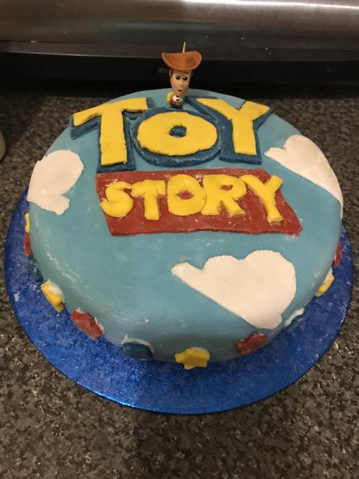 Oscar's yummy Toy Story birthday cake