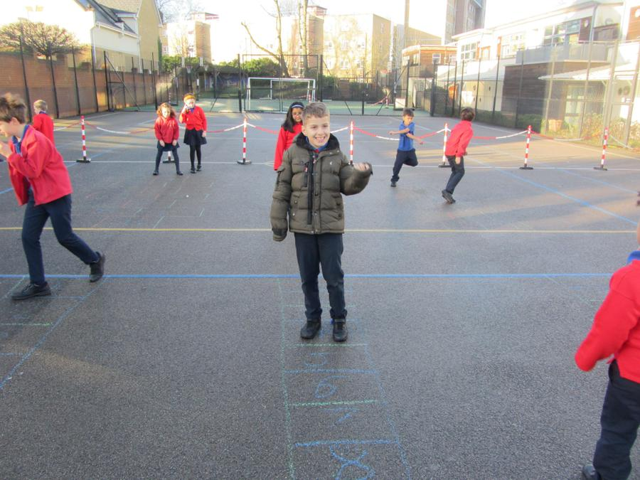 Year 3 Playing Times tables Hopscotch
