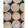 Mrs Davies' peanut butter and chocolate cookies