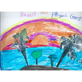 Nana's (3G) - drawing of the physical geography in Hawaii