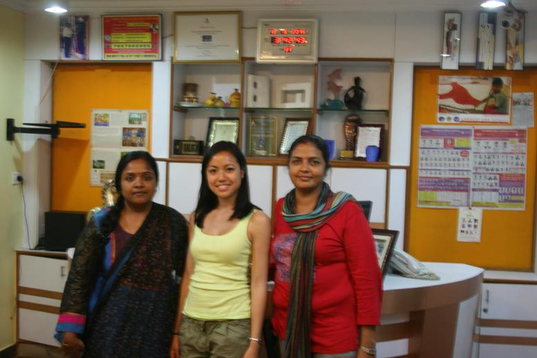 The Ladies at the Achariya headquarters