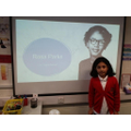 A project on Rosa Parks by Sophie- Year 4