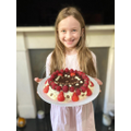 Isabella and her 'healthy' chocolate cake