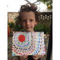 Rory had fun creating his painting