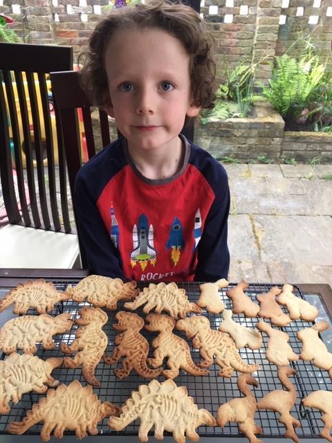 Delicious dinosaur cookies