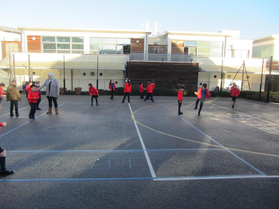 Year 3 Playing Timestables Hopscotch