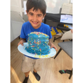 Rainbow cake by Liam in Frog class