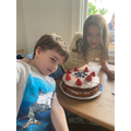 Ivor from Frog class with his magnificent cake