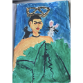 Isabella's portrait of Frida Kahlo (3G)