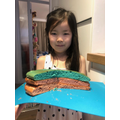 Shuyu from Tadpole class' rainbow cake
