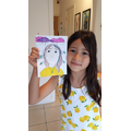 Leona's self portrait inspired by Shyama Golden
