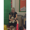 Jo told children all about what pet dogs need.