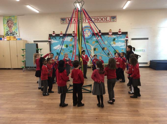 Maypole dancing Is harder than it looks!
