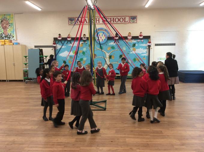 Miss Ramell teaches traditional national dances.
