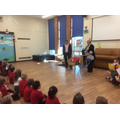 Cllr. Ahmed told the children about his role.