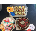 The three cakes chosen by Mr Etherington.