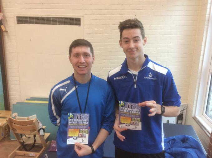 Nathan and Nathan will run the half term club!