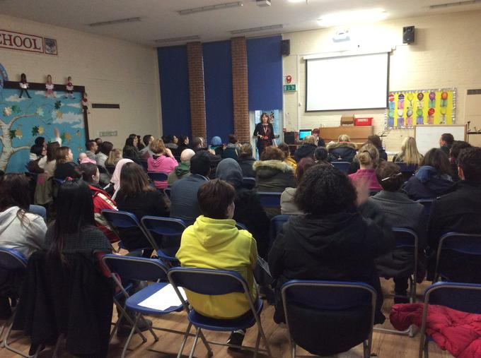 Parents' presentation about how we teach reading.