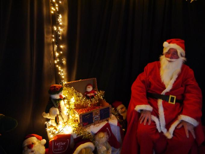 Santa's Grotto at our Christmas Fun afternoon!