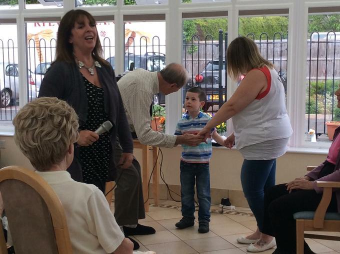 Reg enjoyed meeting the children.