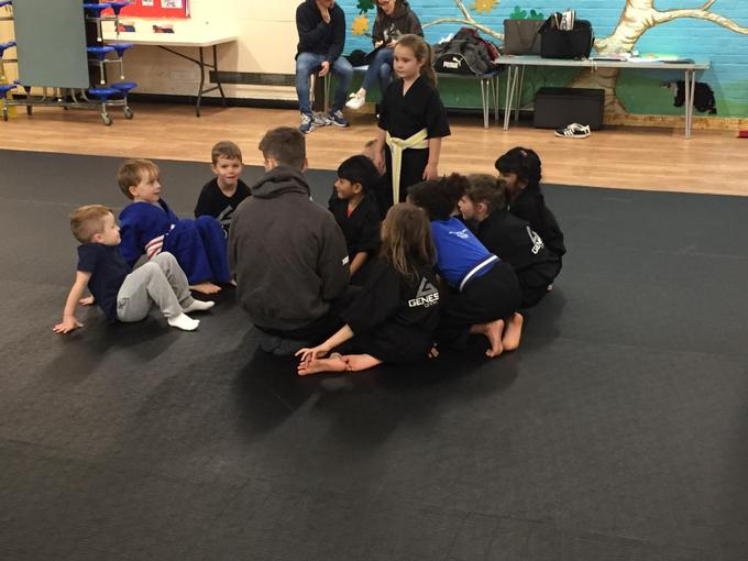 Coach Phil with the Dragons class at 4pm