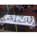 Fantastic clay models made during the fete.