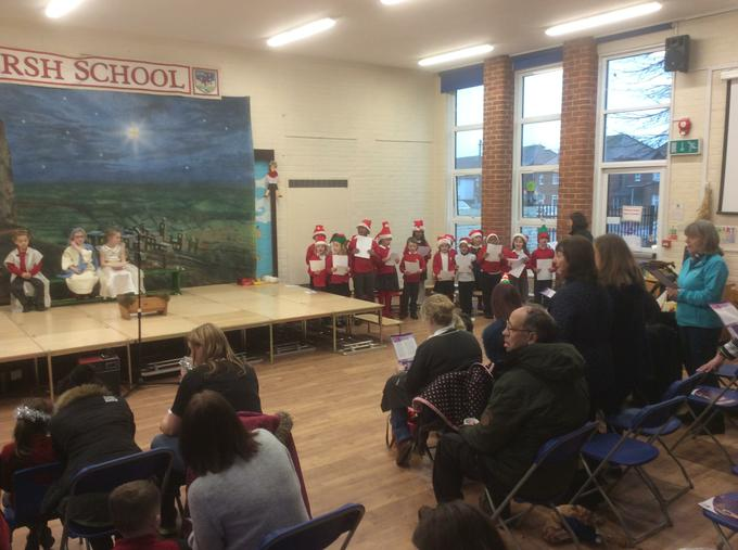 Sing Up Club entertained them with festive songs.