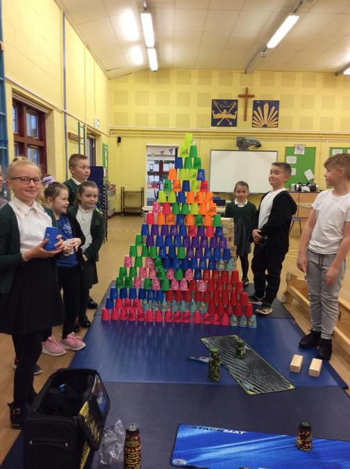 Stacking Cup Tower - Team work!