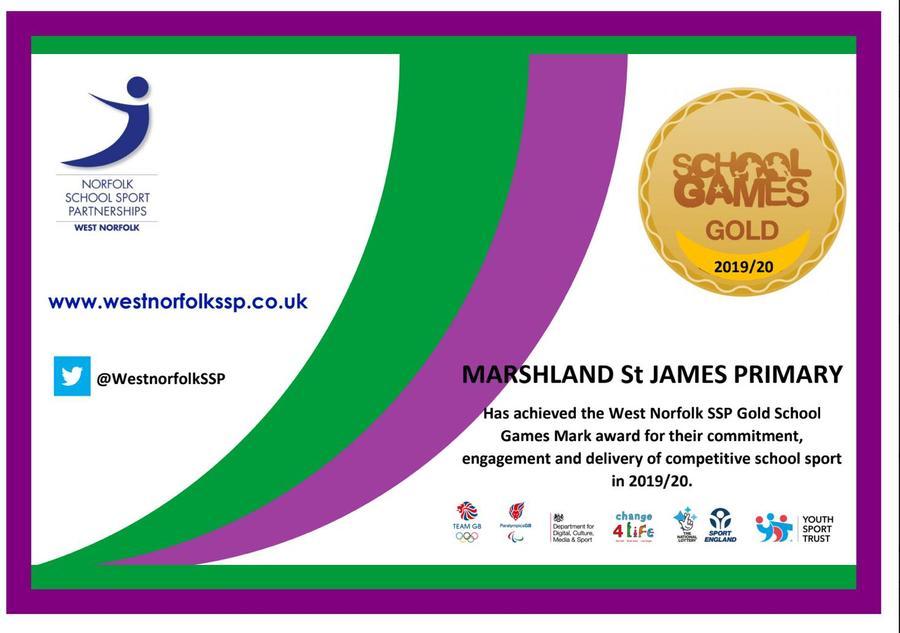 Gold award Certificate 2019/2020