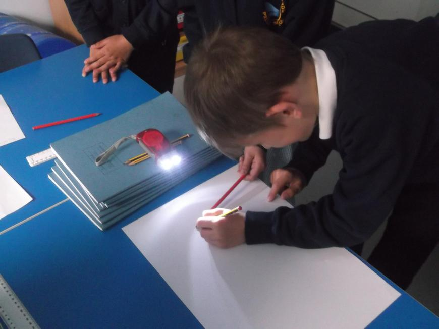 Holding an object close to the light source