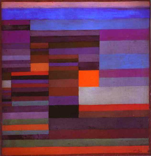 We looked at Paul Klee's abstract painting.