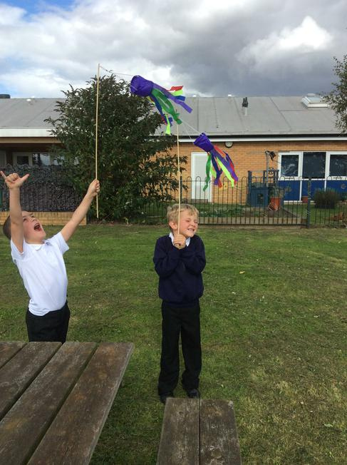 We used wind socks to find the wind direction.
