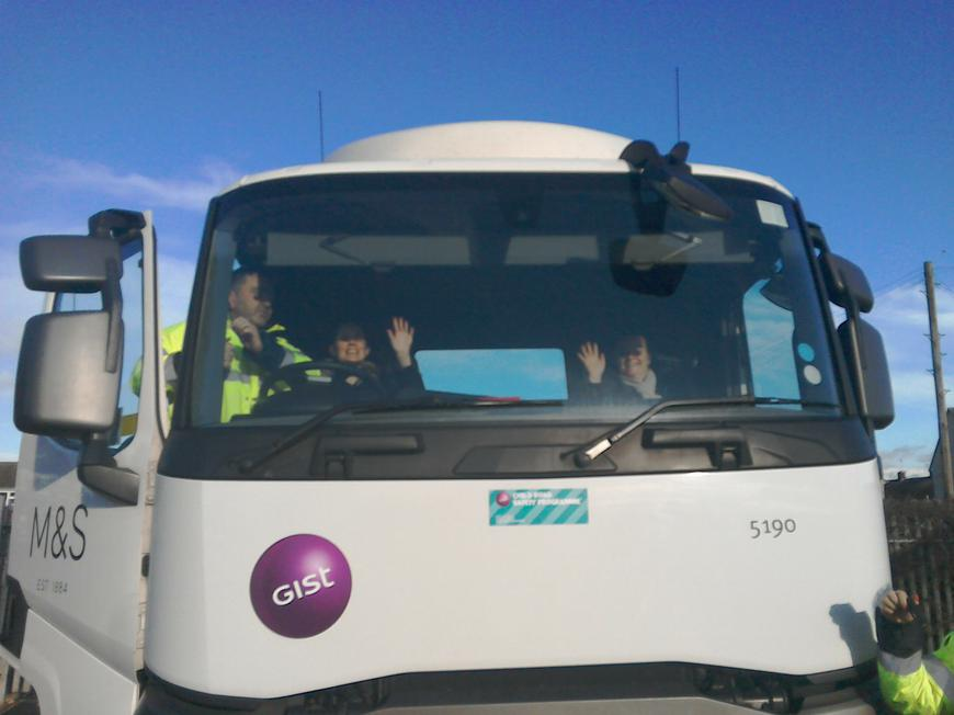 A visit from road safety guys
