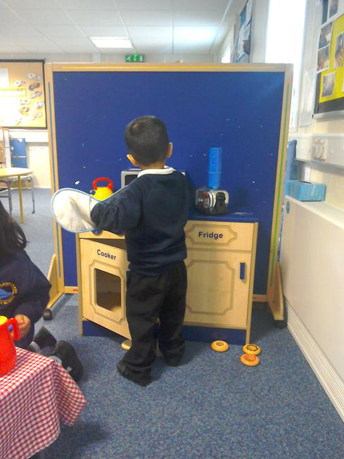 Our role play home corner.
