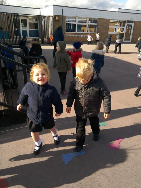 Trying out KS1 playground this half term